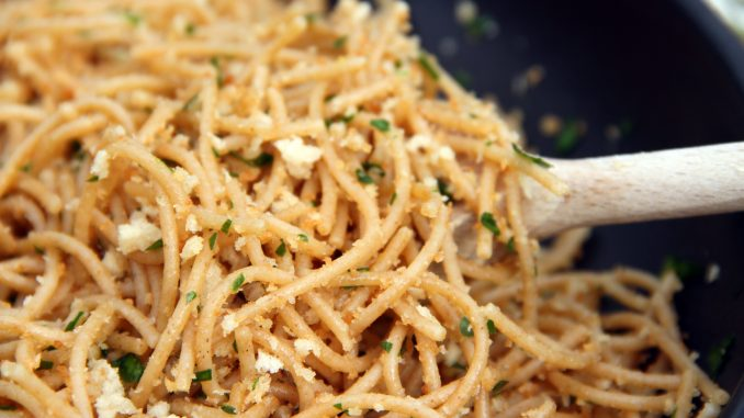 Garlic Pasta with Breadcrumbs