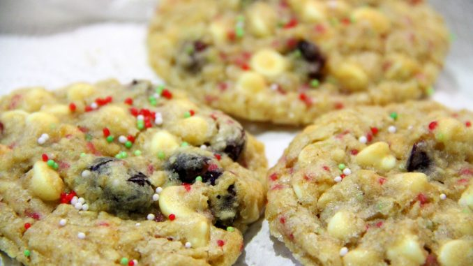 White Chocolate and Cranberry Christmas Cookies