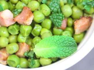 Peas with Prosecco and Pancetta